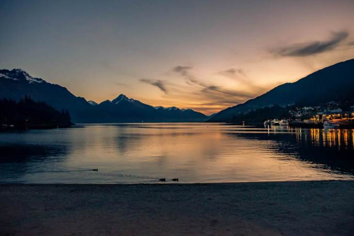Sunsets during the Queenstown ski season