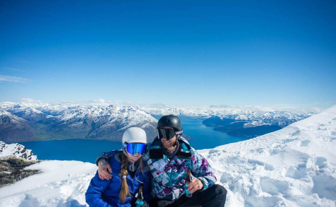 top of remarkables ski field during the Queenstown ski season