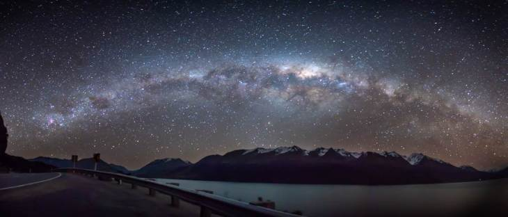 The Milky way on the road from Queenstown to Glenorchy