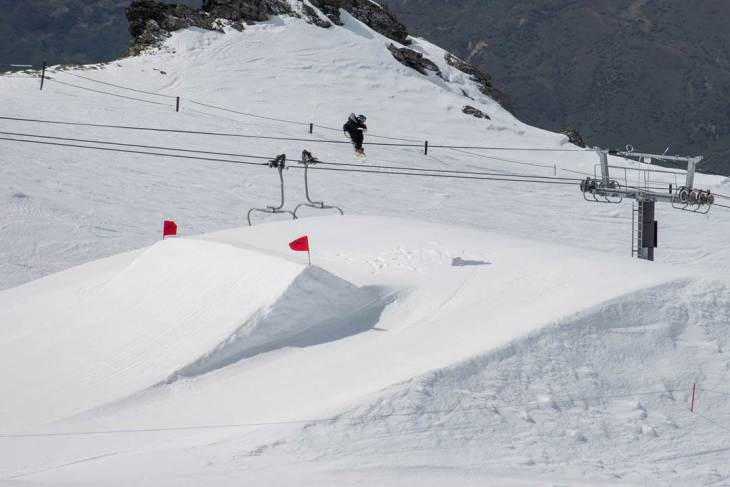 some of the bugger jumps during the Queenstown ski season