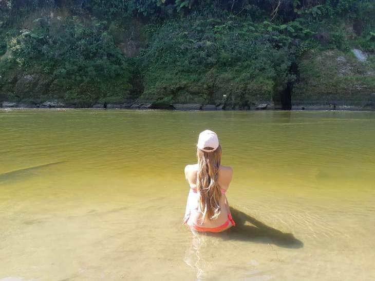 swimming in the whanganui river