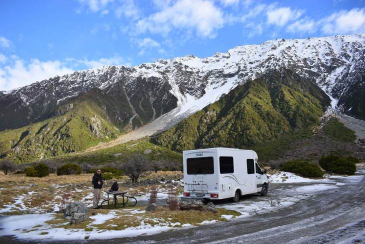 Campervan rental in New Zealand takes you to some amazing spots
