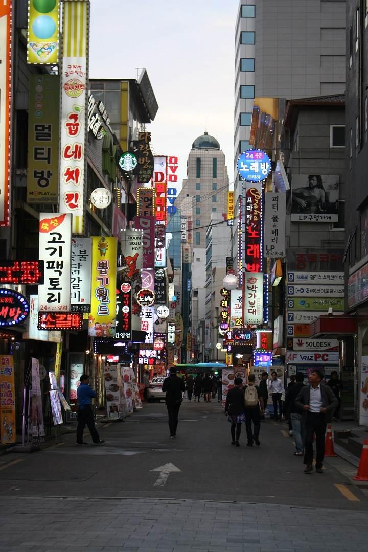 the neighborhood of Myeong-dong