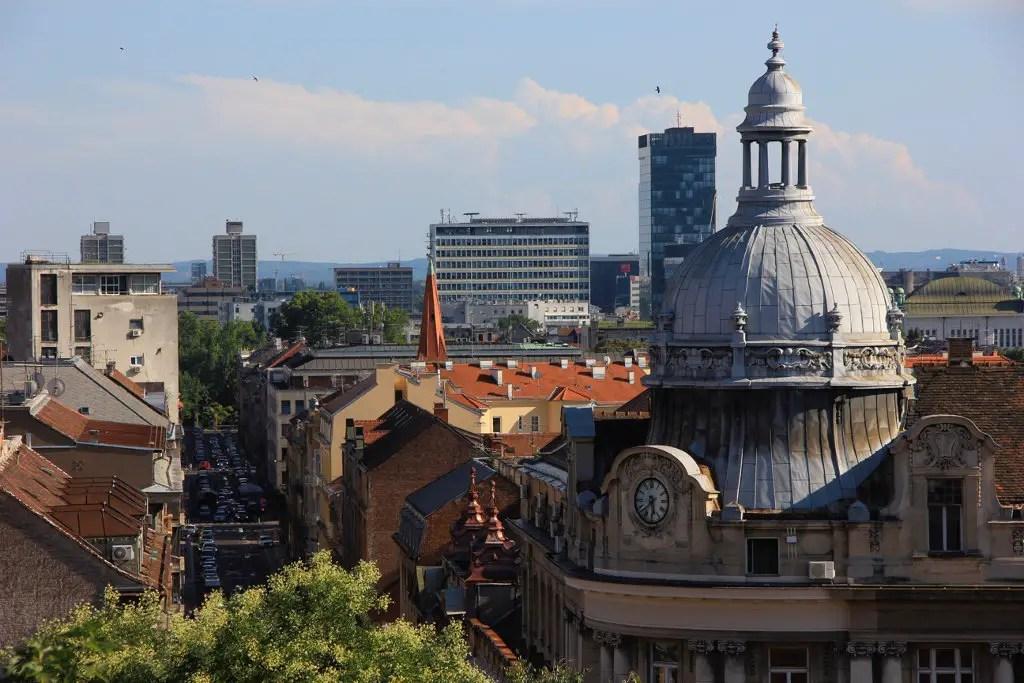 Vue sur les toits de Zagreb en Croatie