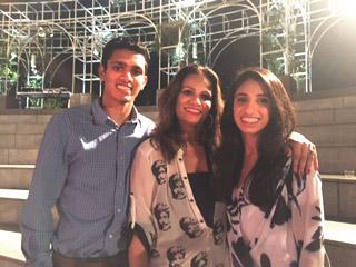 Ayesha Kamran, President of the Pakistan Arts Council with her son Faiz and daughter Amun