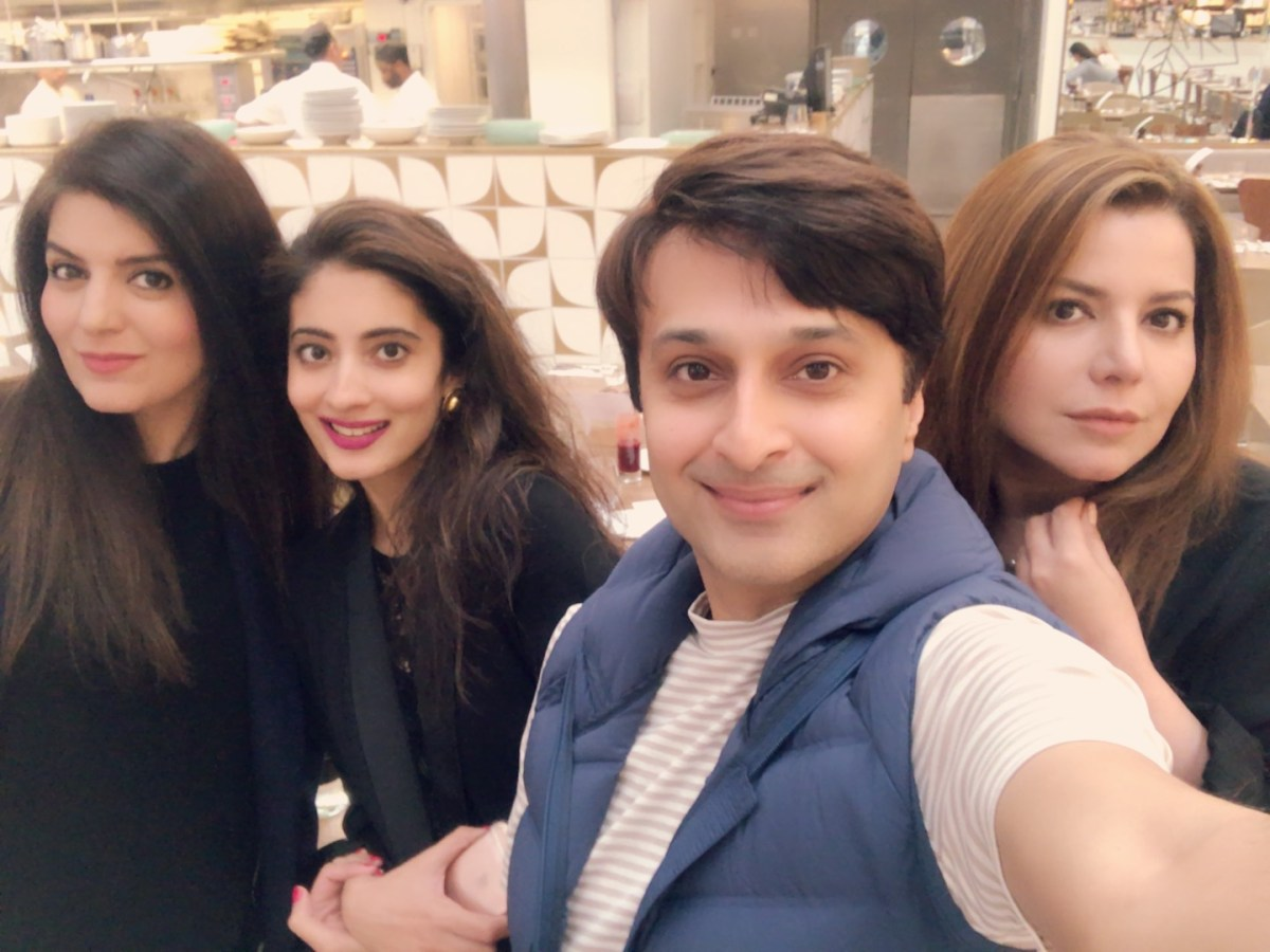 Catching up with Gina, pop icon Zohaib Hassan's wife and my classmate while growing up in Isloo.