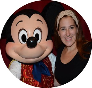 Meghan with Mickey circle