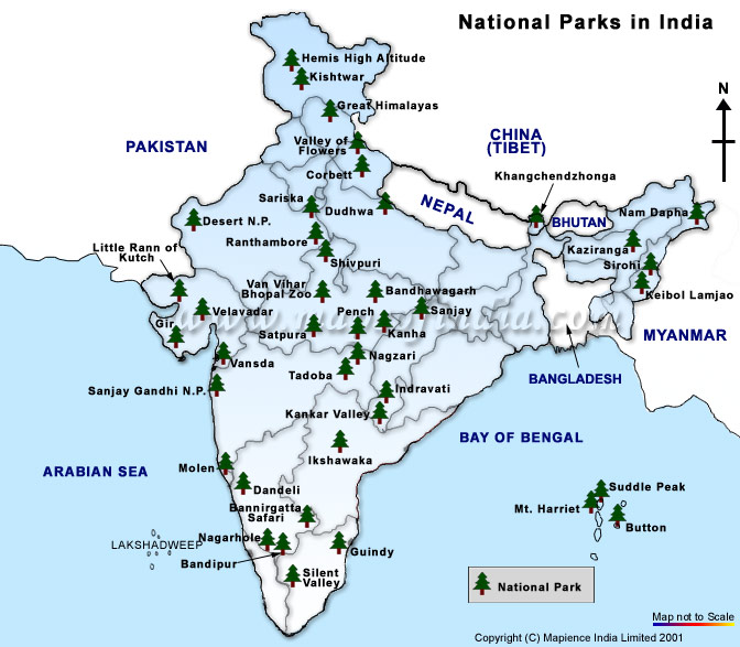 map national parks within wildlife sanctuaries in india के लिए चित्र परिणाम