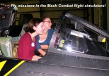 The Patuxent River Naval Air Museum has a variety of family friendly, hands-on exhibits and activities including a flight simulator.