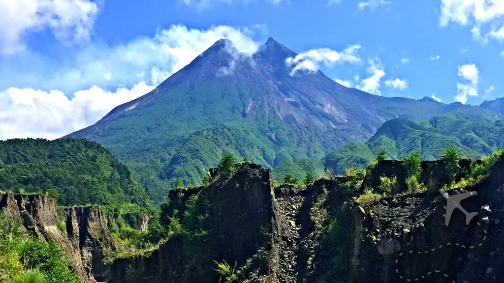 Mount Merapi Volcano in Indonesia