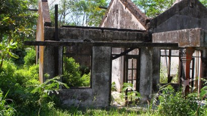 Abandoned building near Merapi Volcano