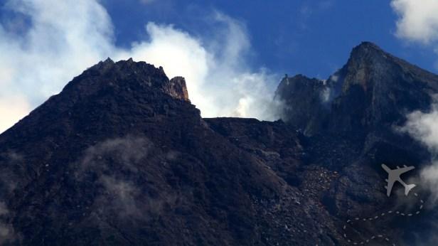 Summit of Mount Merapi Volcano