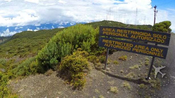 Irazu Volcano restricted area