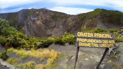 Main crater of Irazu volcano
