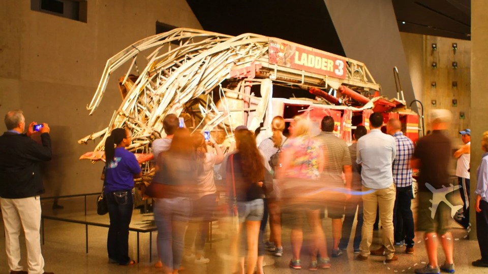 Ladder 3 firetruck at Ground Zero