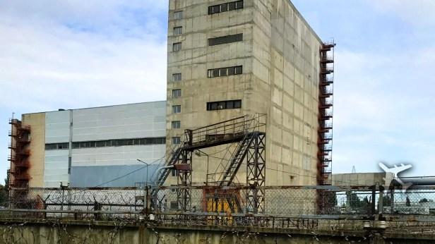 Chernobyl spent uranium storage building