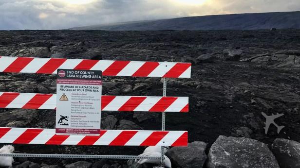 Hawaii Big Island lava field hiking