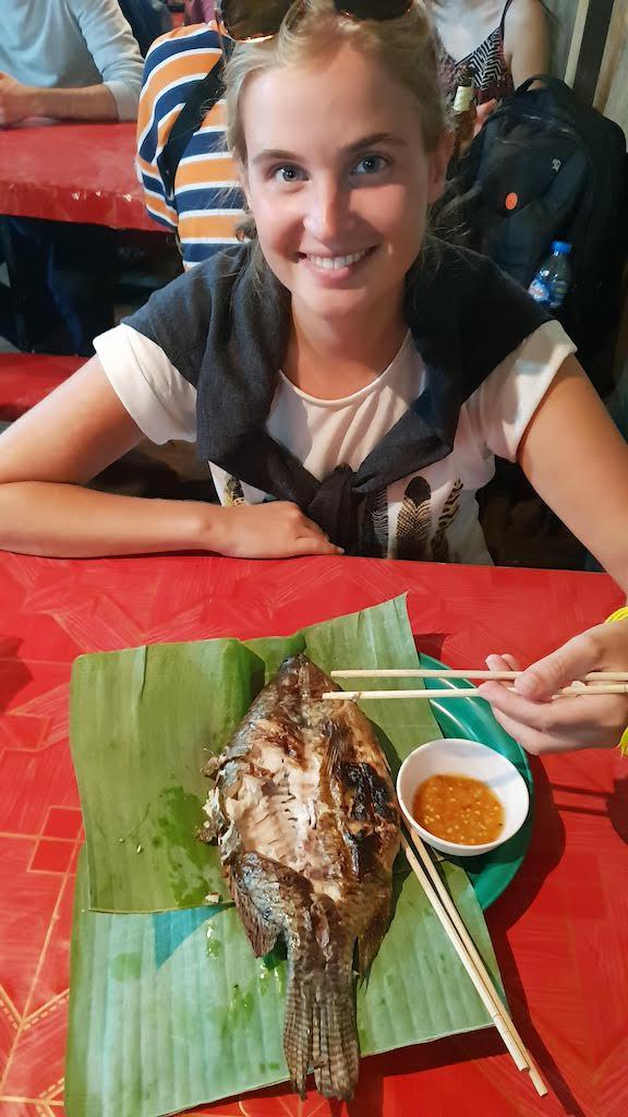 Poisson (délicieux) night market Luang Prabang