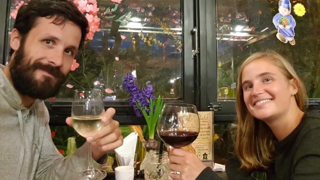 Le Chalet Dalat verre de vin