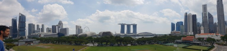 Vue sur Marina Bay depuis National Gallery Singapore