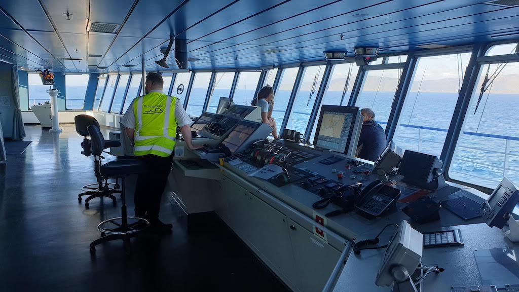 Cabine de pilotage Bluebridge Ferry