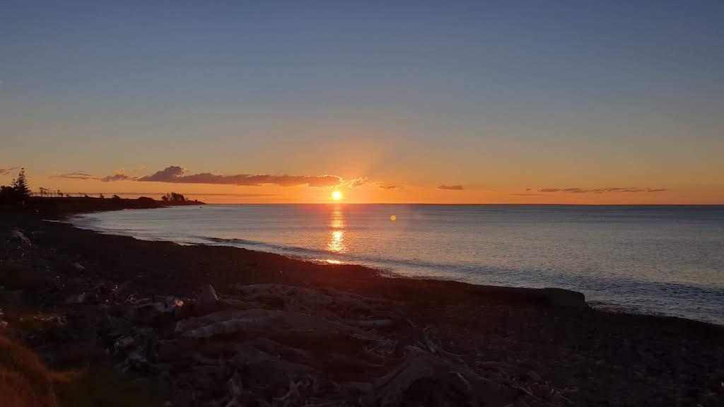coucher du soleil Taranaki