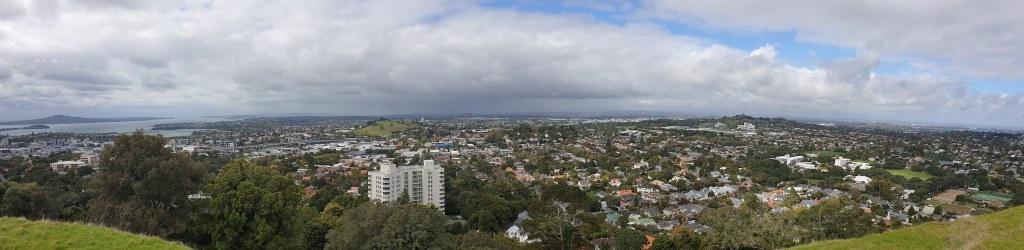 vue sur la ville depuis le Mont Eden