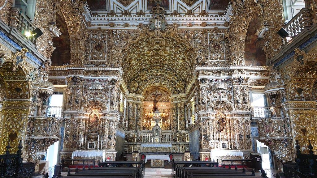 Igreja et convento Sao Francisco à Salvador de Bahia