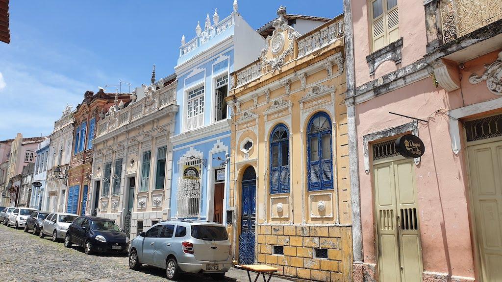 Rue direita de Santo Antonio à salvador de bahia