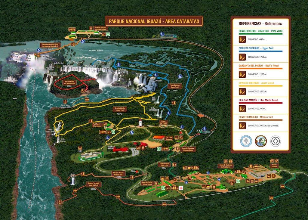 plan chutes Iguazu