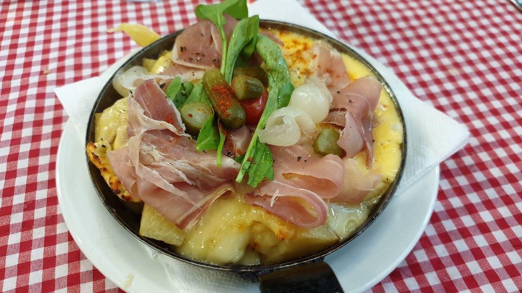 raclette mercado San Telmo lors de notre visite de Buenos Aires