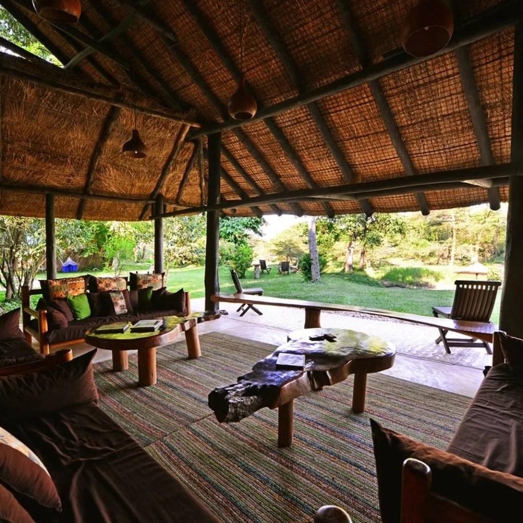 We slept at the exclusive Ishasha wilderness camp in Queen Elizabeth NP