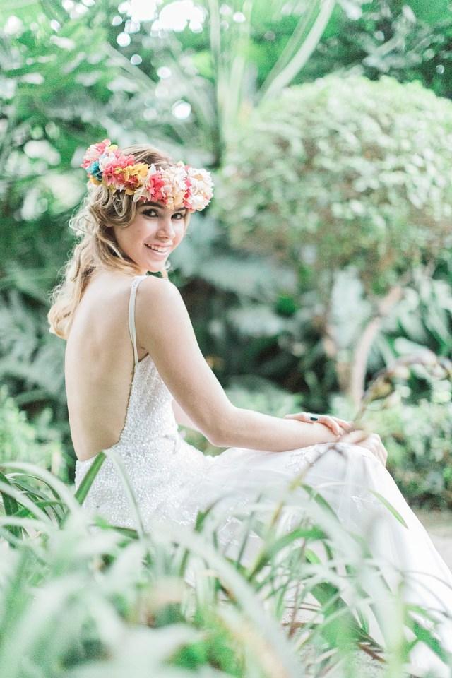 Mariage à destination du jardin botanique