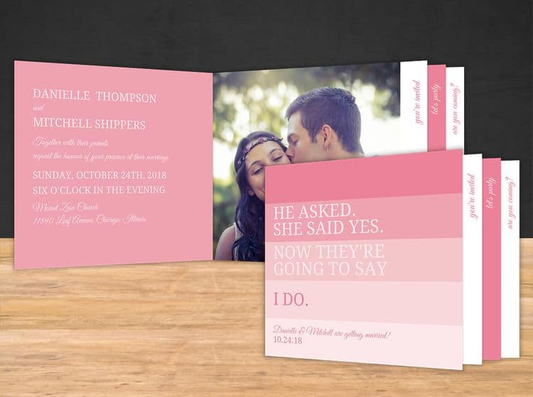 Wedding Invitation Booklets Card