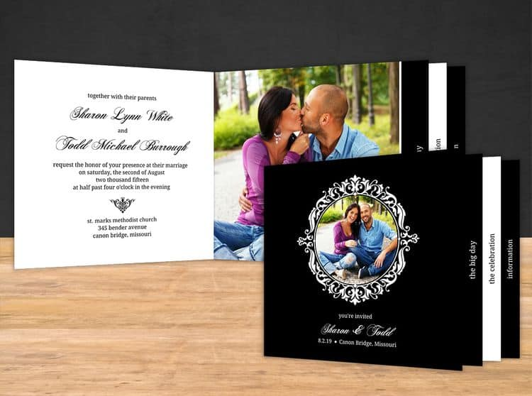 Elegant Destination Wedding Invitation Booklet