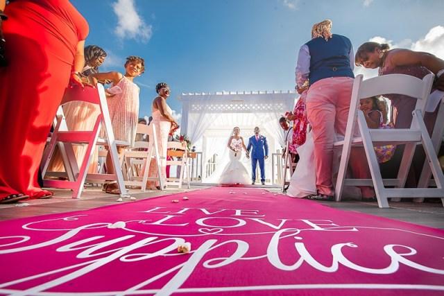cérémonie d'idées de mariage à destination
