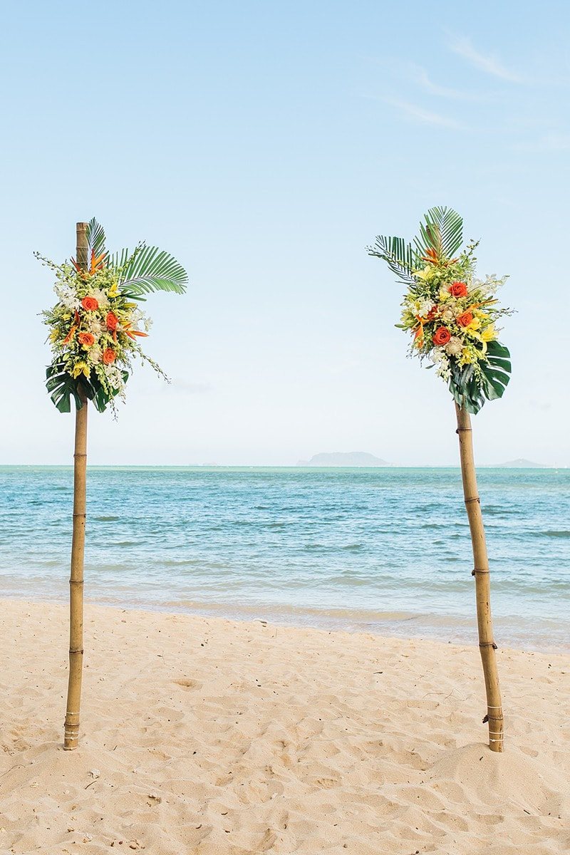 destination wedding private oahu beach 1981