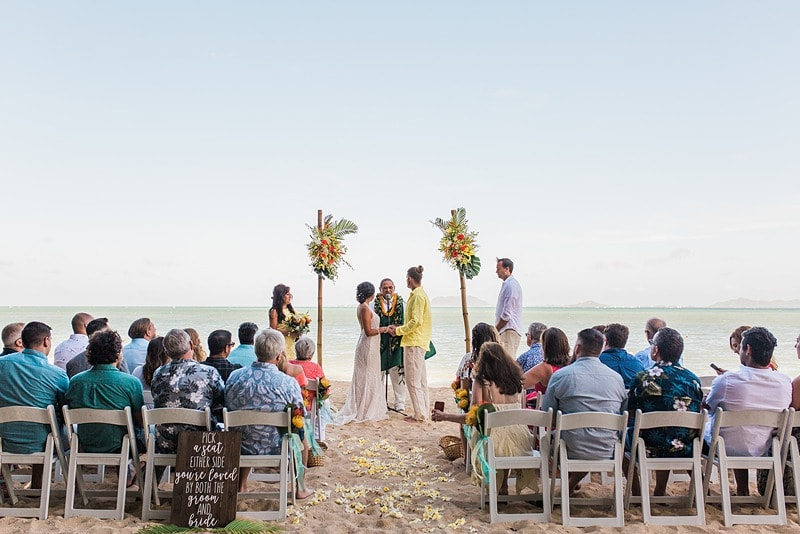 destination wedding private oahu beach 1988