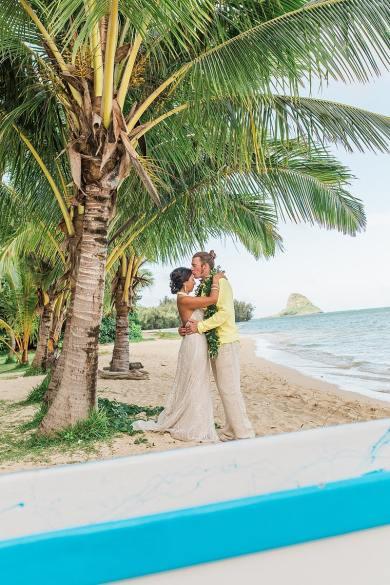 destination wedding private oahu beach 2004