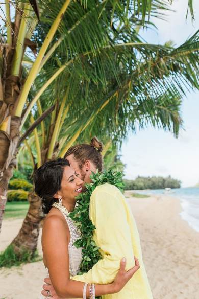 destination wedding private oahu beach 2005
