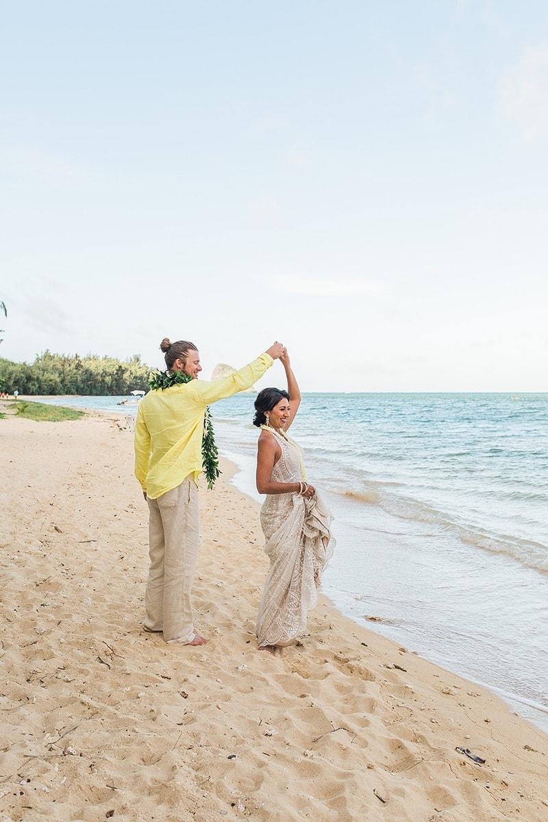 destination wedding private oahu beach 2007