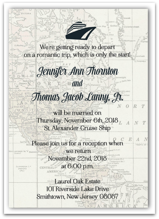 Post Destination Wedding Invitation Wording Exle