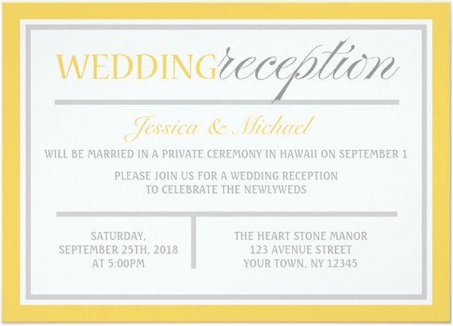21 Beautiful At Home Wedding Reception Invitations  Destination Wedding Details