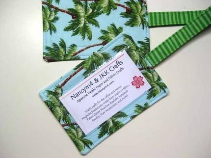 Palm Tree Fabric Luggage Tags