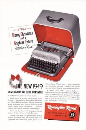 Vintage Advertisement Remington Typewriter, available at  Arcanium Antiques
