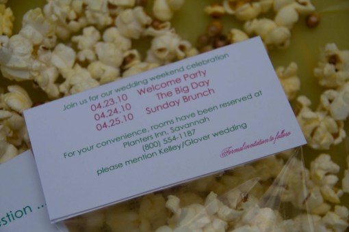 Popped the Question Save the Date Bags from  Bellezaeluce