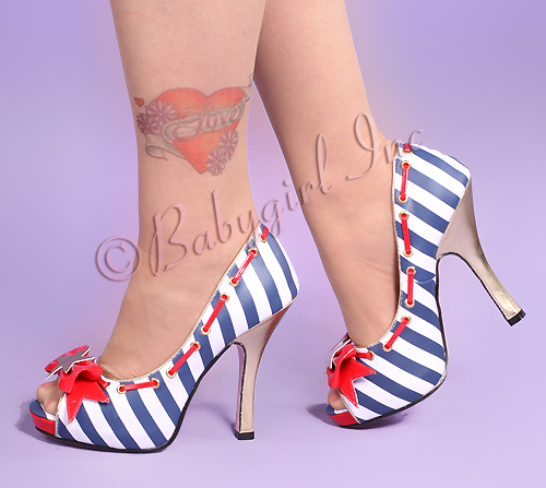 Marina Piped Sailor Girl Shoe, from Baby Girl Boutique