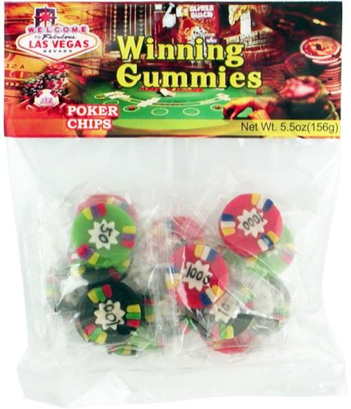 Gummy Poker Chips for Destination Wedding Fun