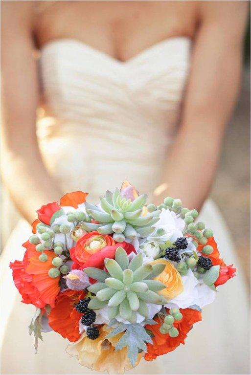 Destination Wedding Bouquet with Succulents