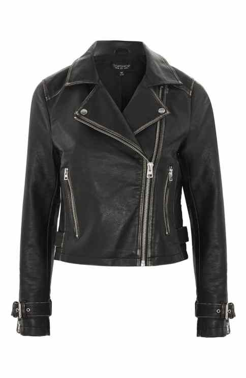 Washed Wolf Zipper Moto Jacket Top Shop for Bride to Wear Over Gown